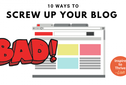 10 ways not to screw up your blog