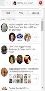 Pinterest Newsfeed