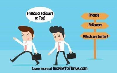 friends or followers on Tsu