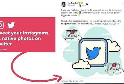 IFTTT for Instagram to tweet
