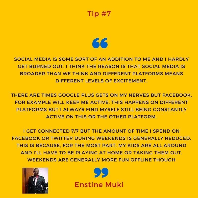 overcome social media burnout tip #7
