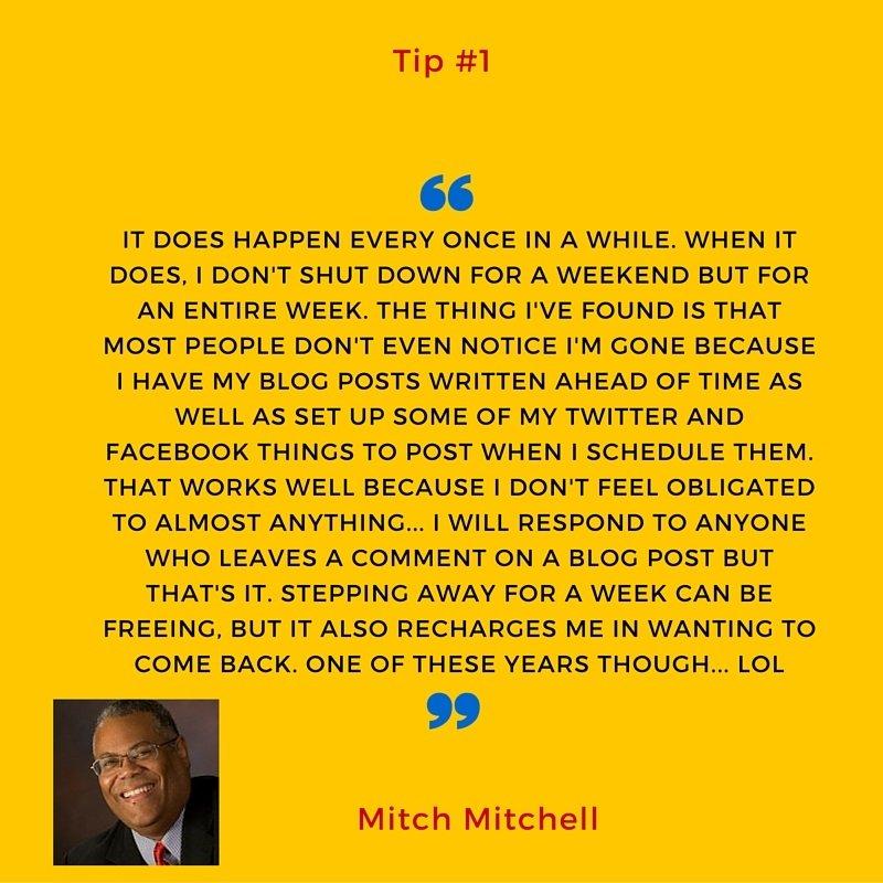 Social media burnout tip #1