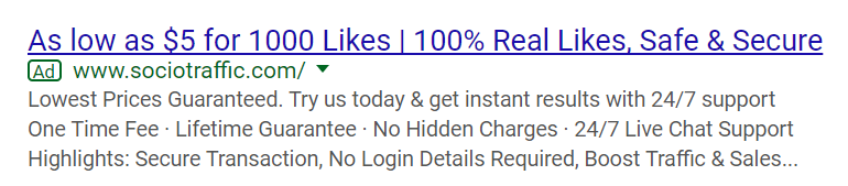 facebook likes for sale