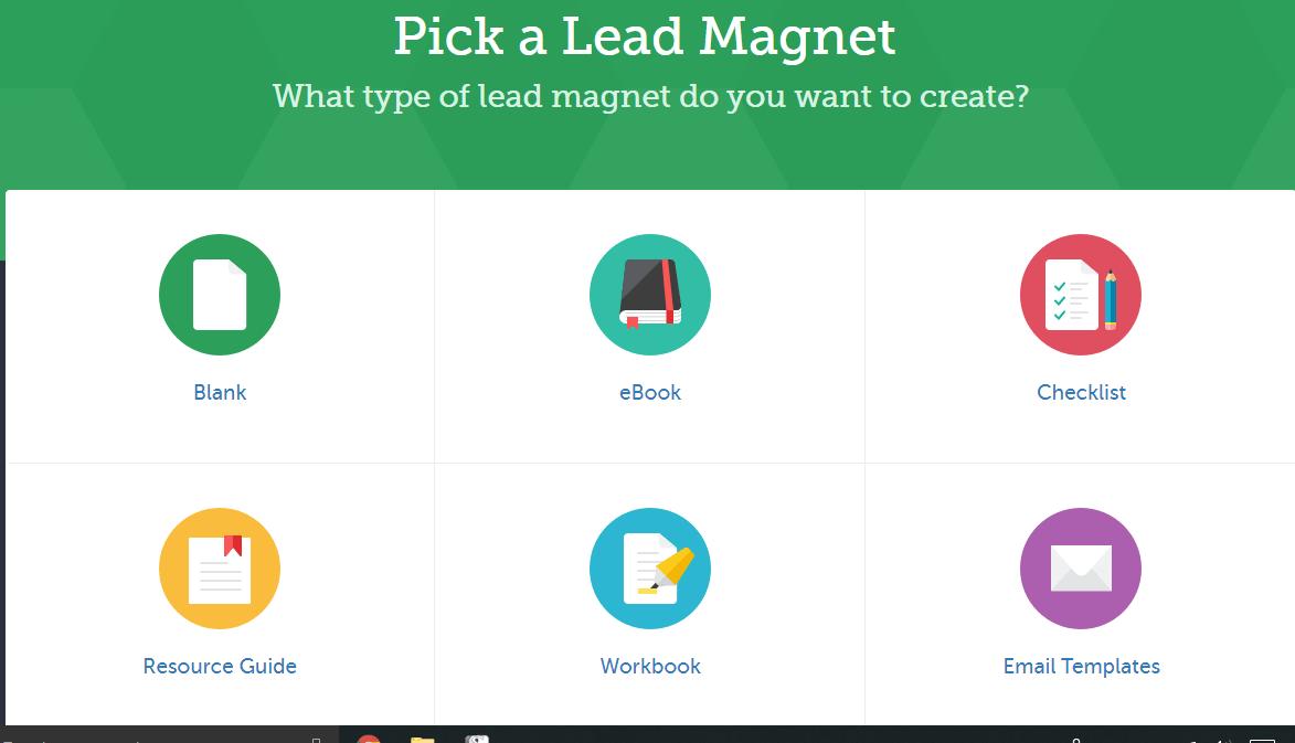 pick a lead magnet