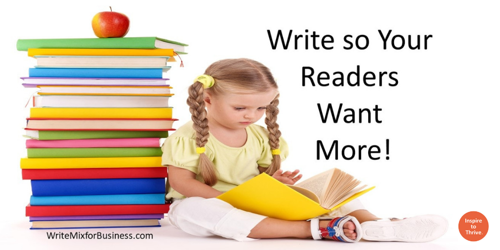 write so readers want more