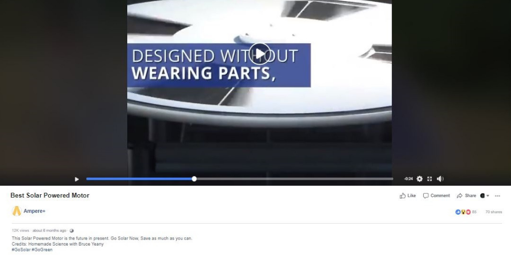 solar power Facebook ad