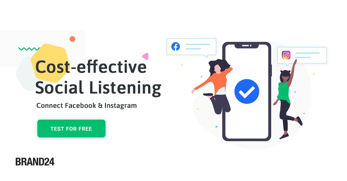 Brand24 for Instagram listening