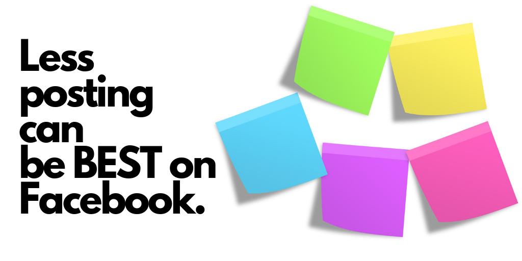 less posting on FB