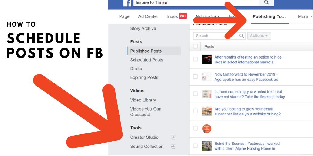 How to schedule FB posts