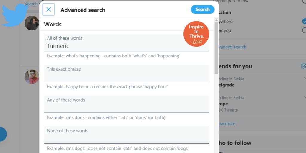 Twitter creative keyword research