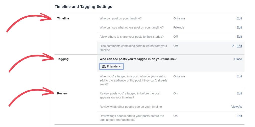 stop annoying facebook tags