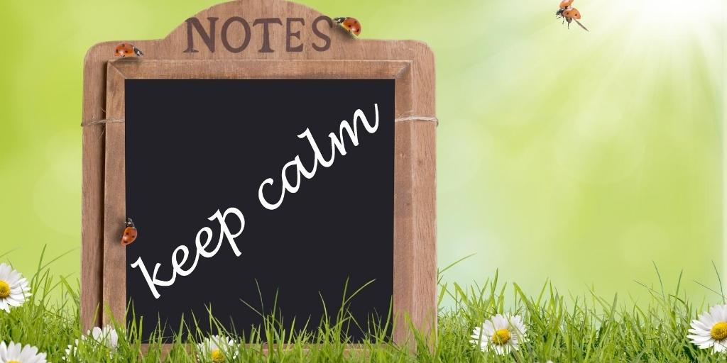 keep calm when online business is struggling
