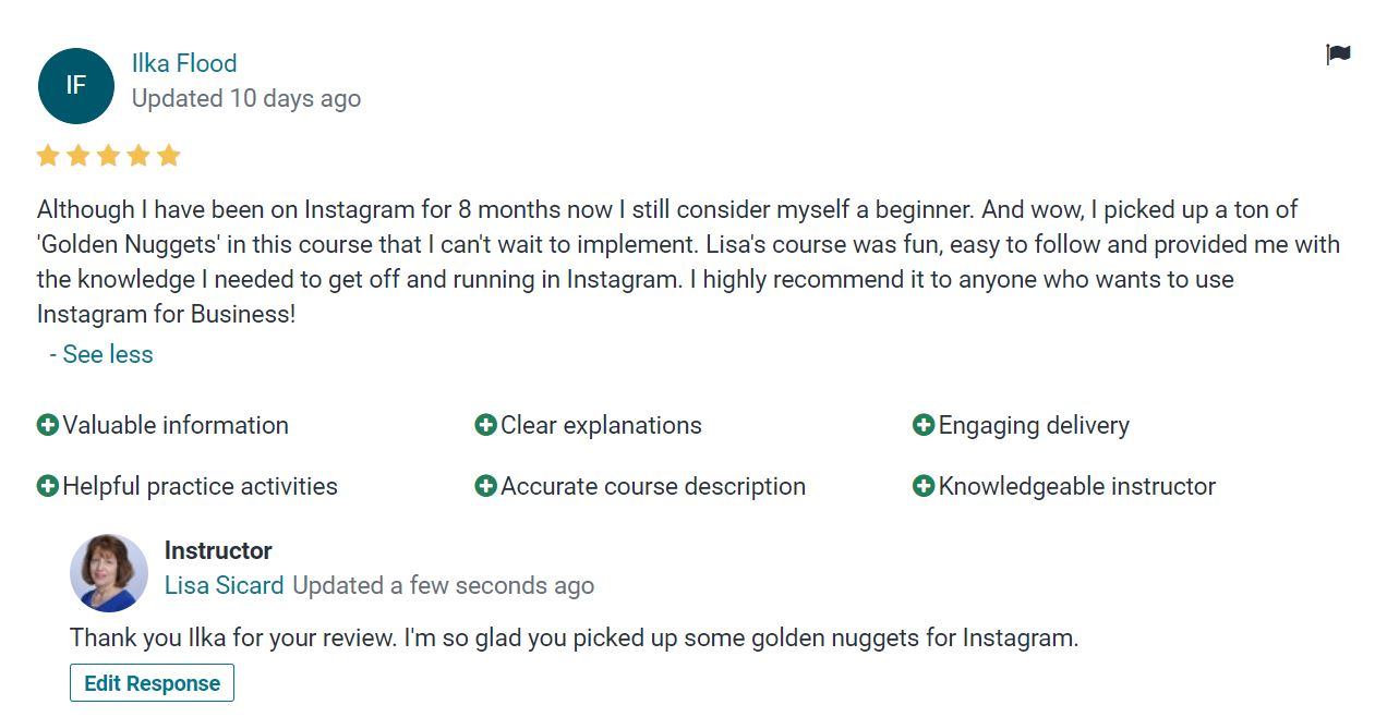 review of Instagram class