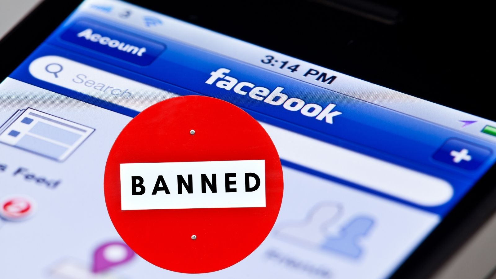 banned from Facebook