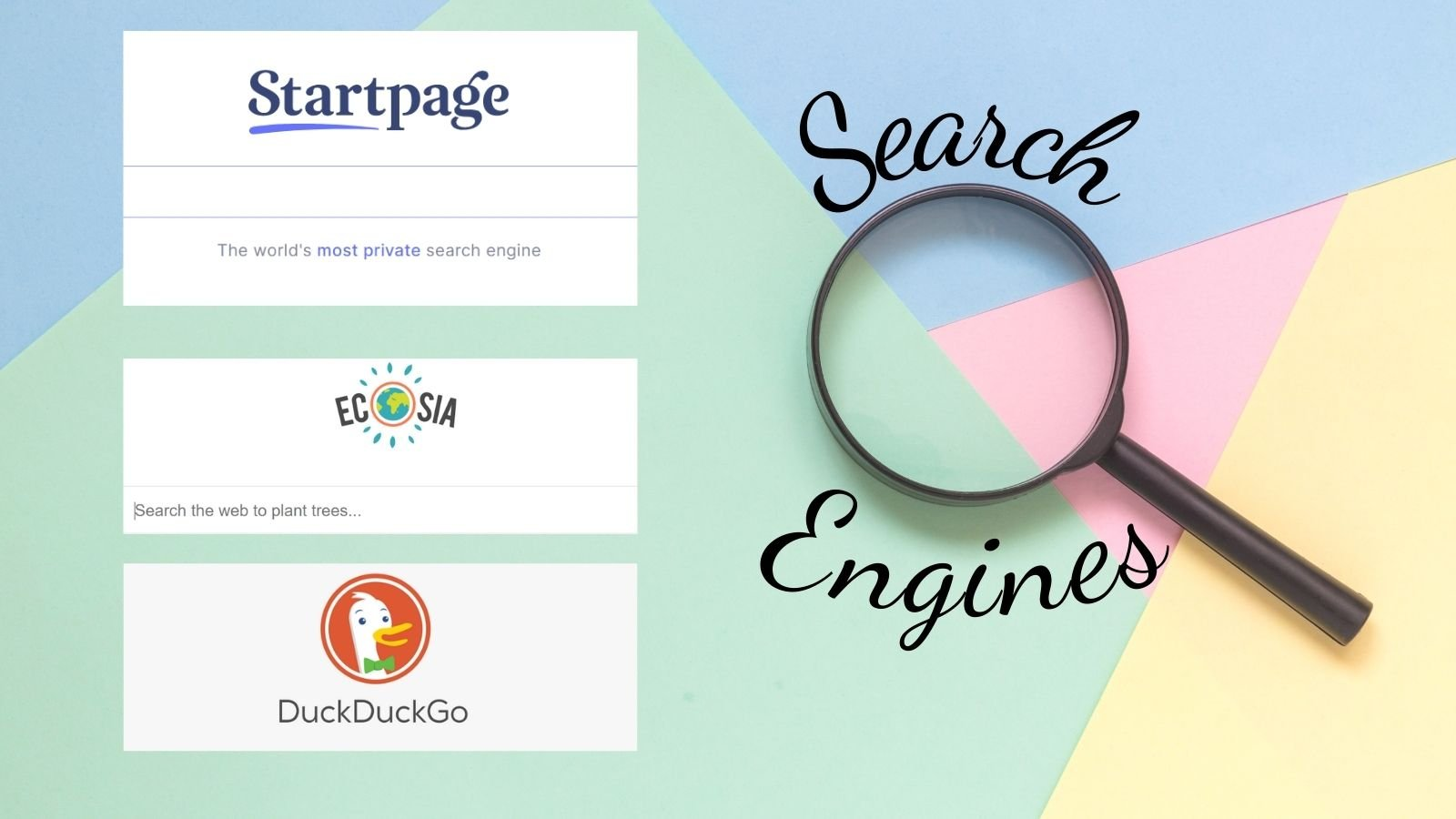 different search engines besides Google to use