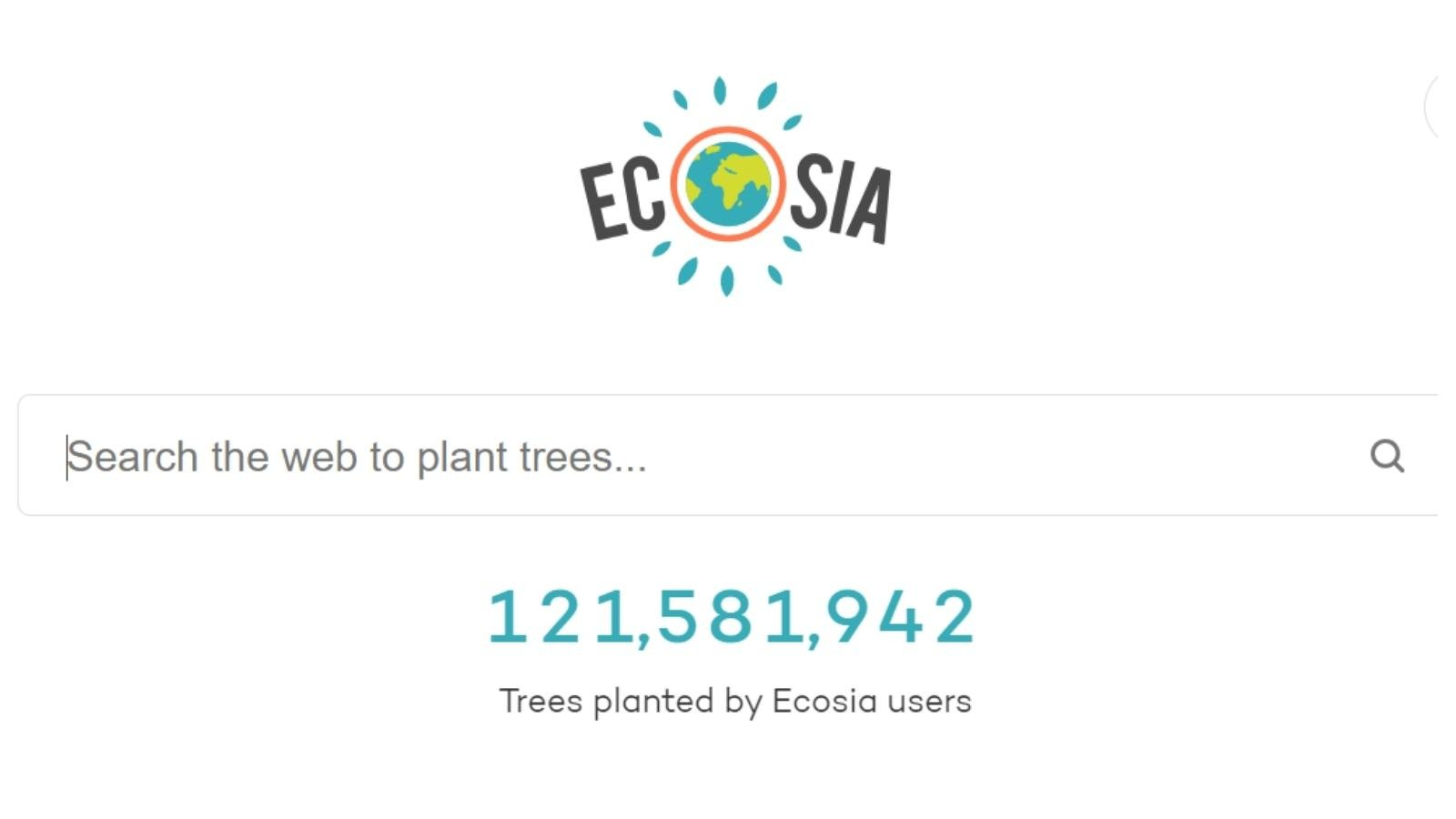 ecosia save the planet with search