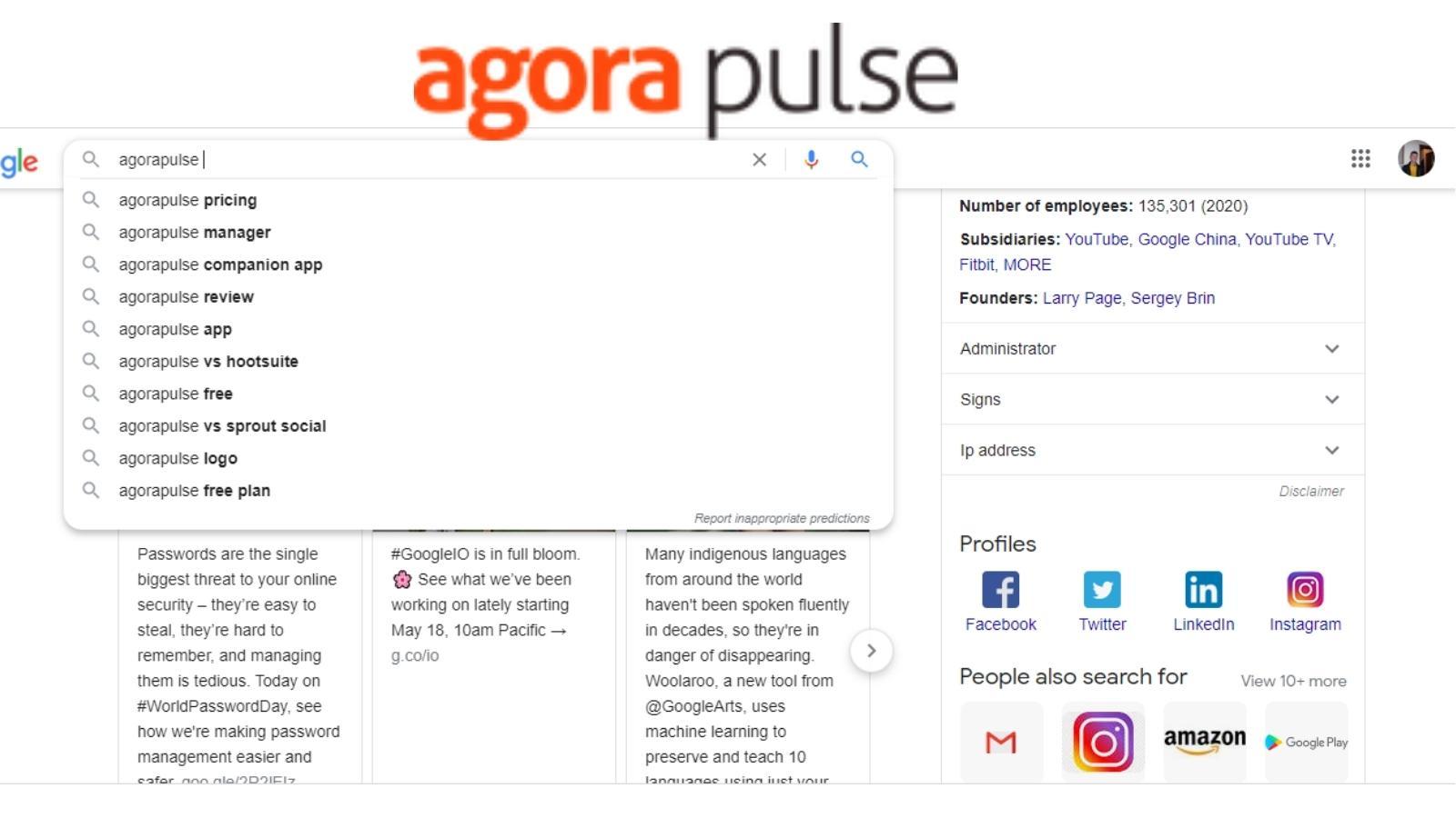 agorapulse keyword cluster