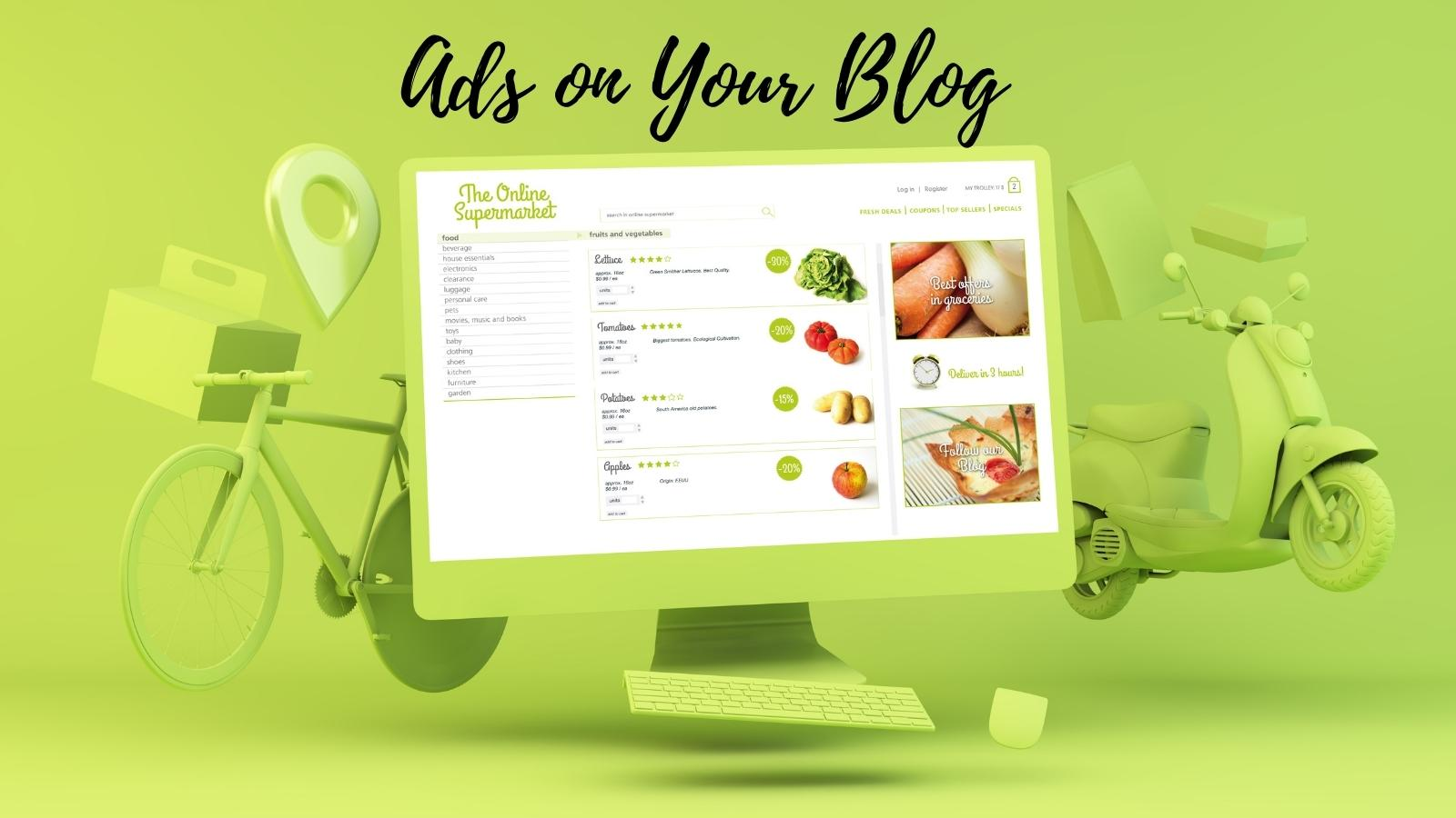 ads for your blogging hobby blog