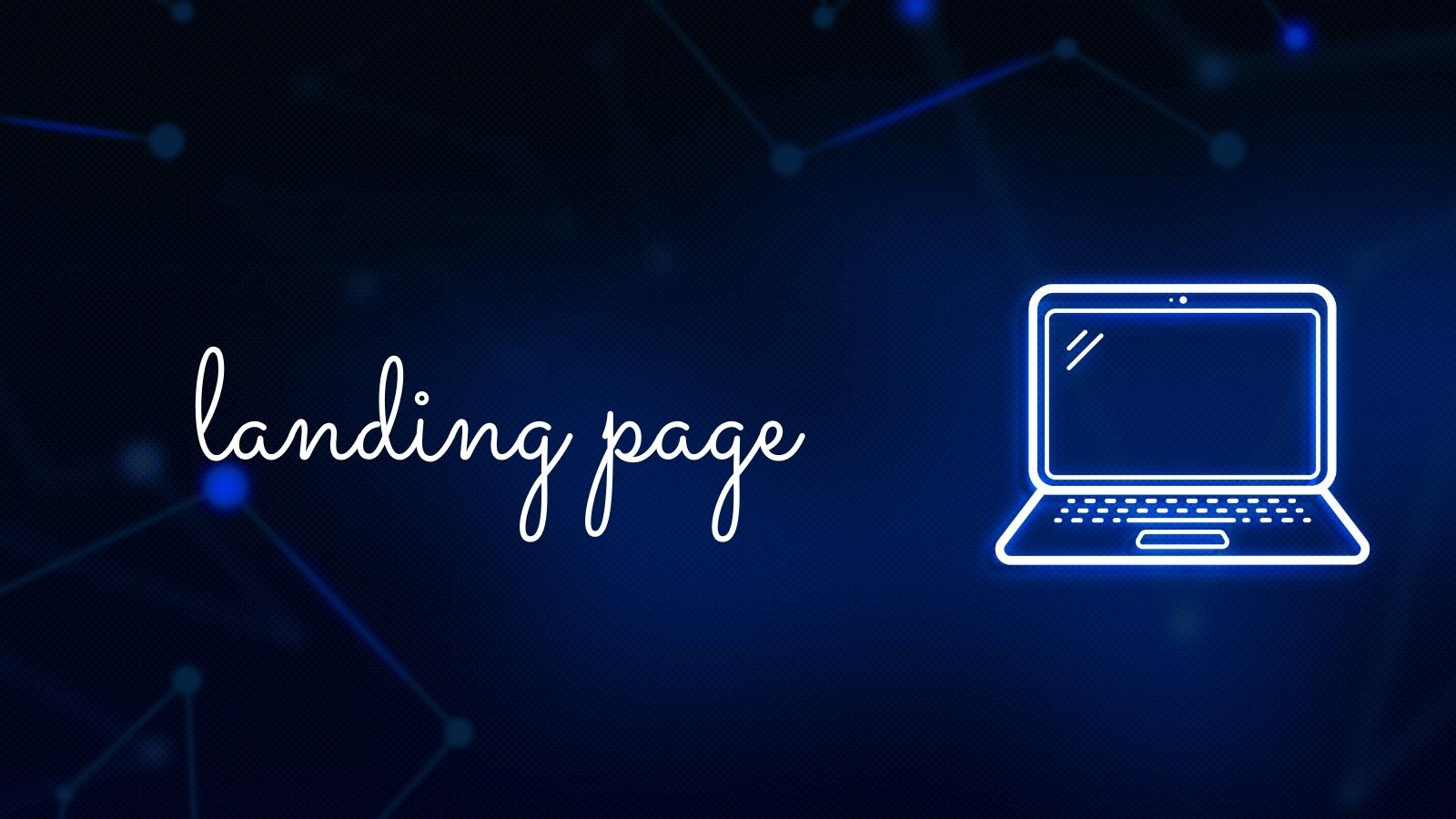 have a landing page for your affiliate product